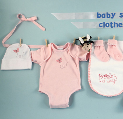 Baby Shower Clothesline Baby Girl Gift
