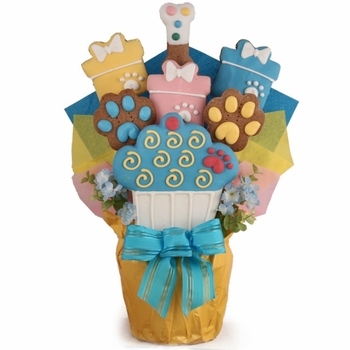 Birthday Dog Biscuit Bouquet