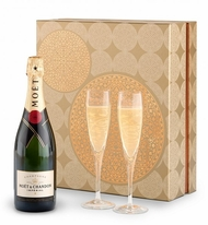 Champagne & Glassware Gift Set - Moet & Chandon Imperial Champagne