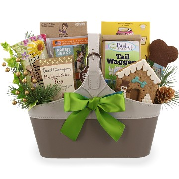 fabulous dog owner christmas gift basket