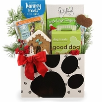 Holiday Dog Pound Gift Basket