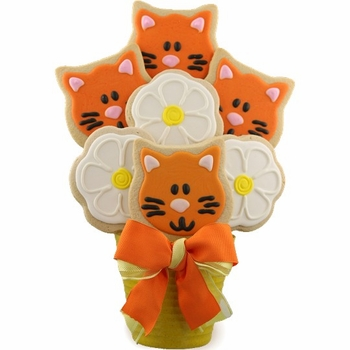 Kitty Love Cookie Bouquet