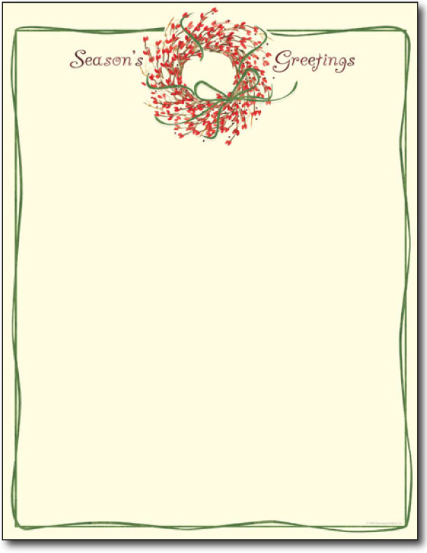 Christmas letterhead template search results calendar 2015 for Holiday letterhead