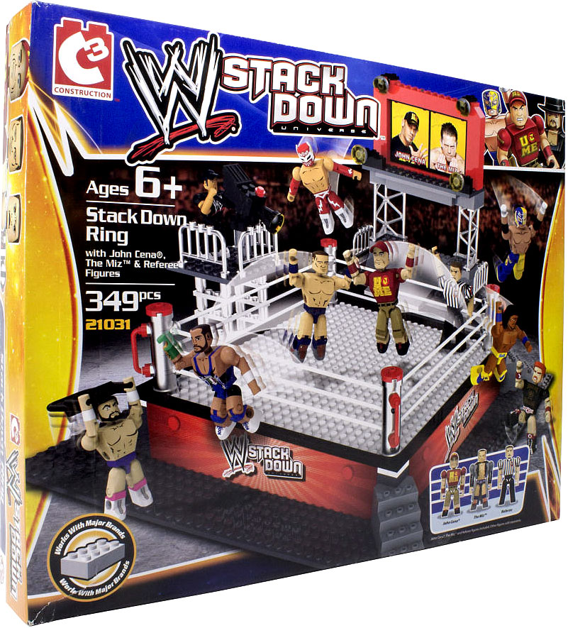 Toys R Us Wwe Rings : Wwe c construction stackdown ring set