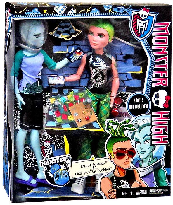 Monster high manster deuce gorgon gillington gil webber doll 2 pack on sale at - Monster high deuce ...