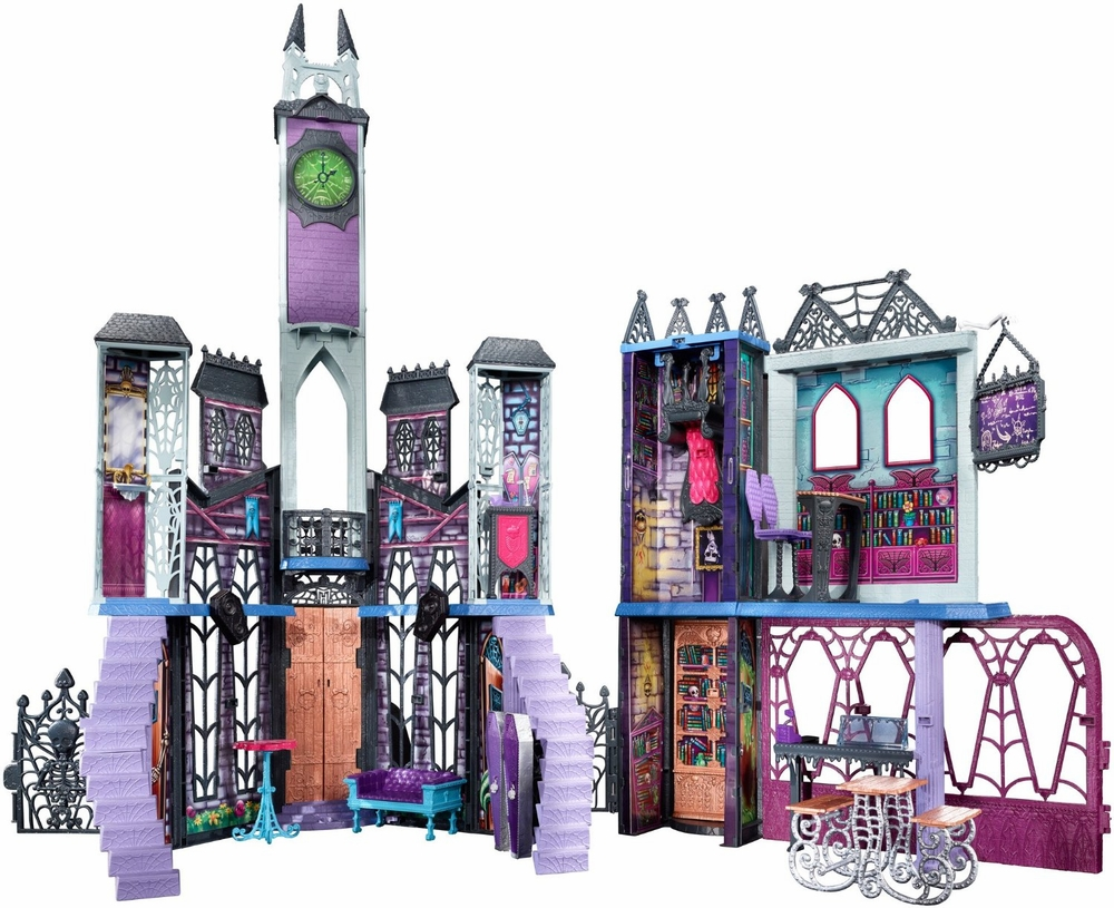 Monster high deadluxe high school doll playset mattel toys for Deco maison walmart