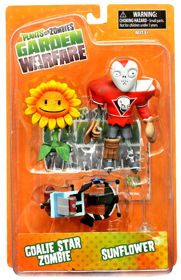 Plants Vs Zombies Garden Warfare Series 2 Goalie Star Zombie Sunflower Action Figure 2 Pack