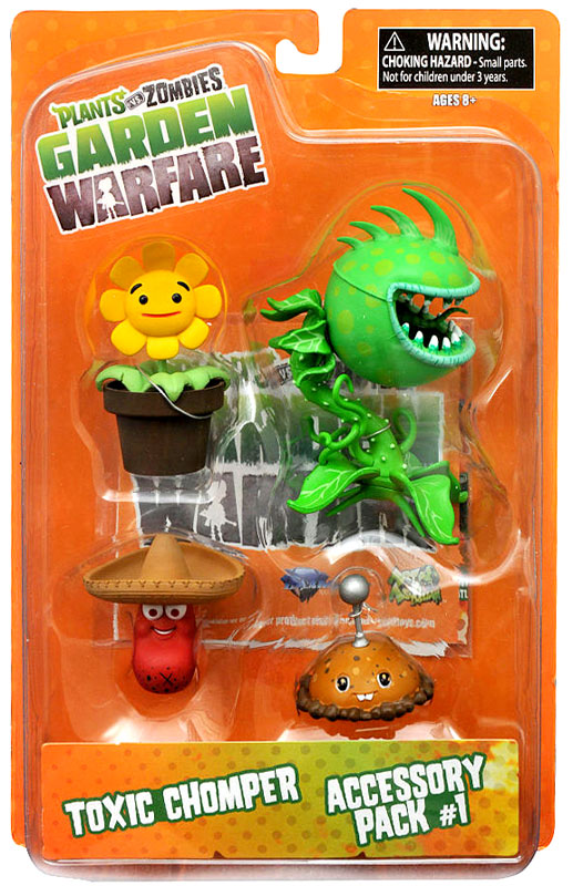 Plants Vs Zombies Garden Warfare Series 2 Toxic Chomper Accessory Pack 1 Action Figure 2 Pack
