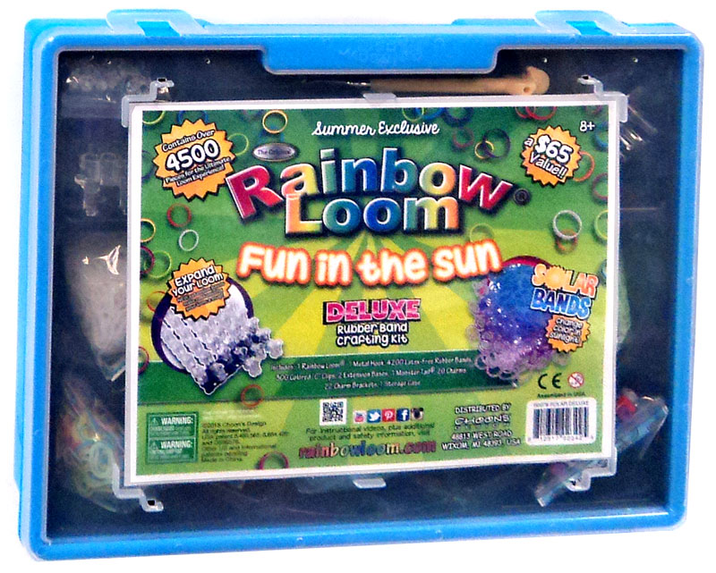 Rainbow Loom Deluxe Rubber Band Crafting Kit