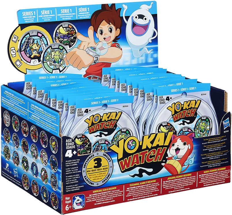 Yo kai watch series 1 yokai medals mystery box 24 packs on for Decoration yo kai watch