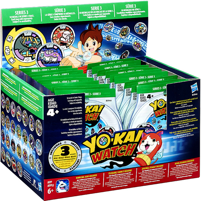Yo kai watch series 3 yokai medals mystery box on sale at for Decoration yo kai watch