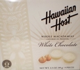 Whole Macadamias Covered in Premium White Chocolate - Hawaiian Host - 6 Pack