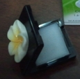 Yellow Plumeria Solid Perfume Compact with Mirror