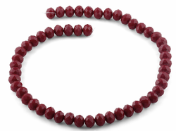 10mm Dark Red Faceted Rondelle Crystal Beads
