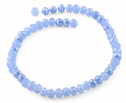 10mm Lavender Faceted Rondelle Crystal Beads