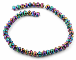 10mm Rainbow Faceted Rondelle Crystal Beads