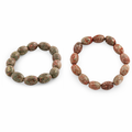 10x14mm Melon Autumn Jasper Gem Stone Bracelet