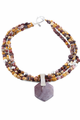 """18"""" Sterling Silver and Mookaite Beads Necklace"""