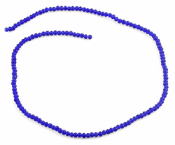 3mm Dark Blue Faceted Rondelle Glass Beads