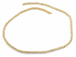 3mm Gold Faceted Rondelle Glass Beads