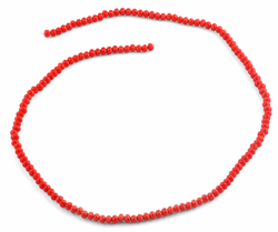 3mm Red Faceted Rondelle Glass Beads
