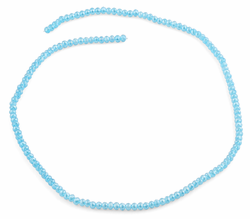 3mm Teal Faceted Rondelle Glass Beads