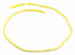 3X6mm Yellow Rectangle Faceted Crystal Beads