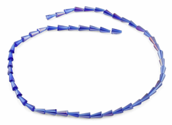 4x8mm Navy Blue Cone Faceted Crystal Beads