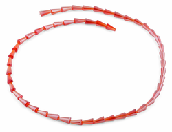 4x8mm Red Cone Faceted Crystal Beads
