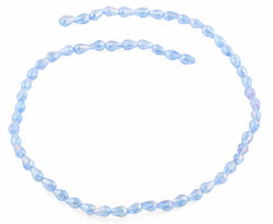 5x7mm Blue Drop Faceted Crystal Beads