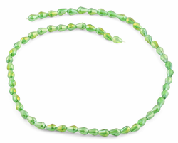 5x7mm Green Drop Faceted Crystal Beads