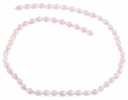 5x7mm Pink Drop Faceted Crystal Beads