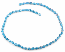 5x7mm Teal Drop Faceted Crystal Beads