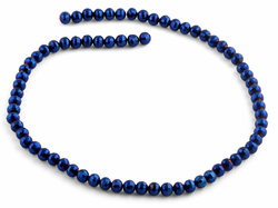 6mm Navy Blue Round Faceted Crystal Beads