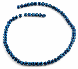 6mm Navy Blue Round Crystal Beads