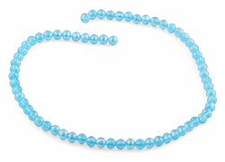 6mm Ocean Blue Round Faceted Crystal Beads