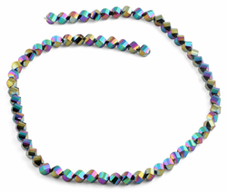 6mm Rainbow Twist Faceted Crystal Beads