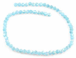 6mm Sky Blue Twist Faceted Crystal Beads