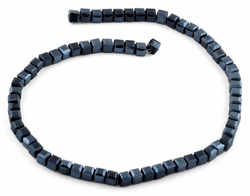 6X6mm Navy Blue Square Faceted Crystal Beads