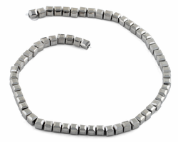 6X6mm Silver Square Faceted Crystal Beads