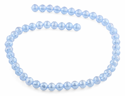 8mm Blue Round Faceted Crystal Beads