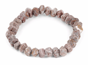 8mm Faceted Nugget Fossilized Agate Gem Stone Bracelet