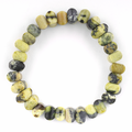 8mm Faceted Pumpkin Yellow Turquoise Gem Stone Bracelet