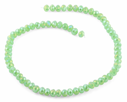 8mm Green Faceted Rondelle Crystal Beads