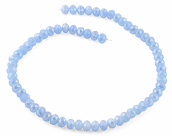 8mm Light Blue Faceted Rondelle Crystal Beads
