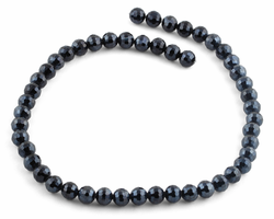 8mm Navy Blue Round Faceted Crystal Beads