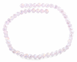 8mm Pink Twist Faceted Crystal Beads