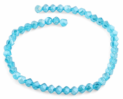 8mm Teal Twist Faceted Crystal Beads