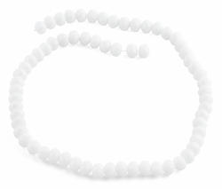 8mm White Faceted Rondelle Crystal Beads