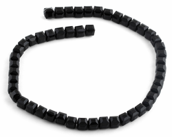 8x8mm Black Square Faceted Crystal Beads